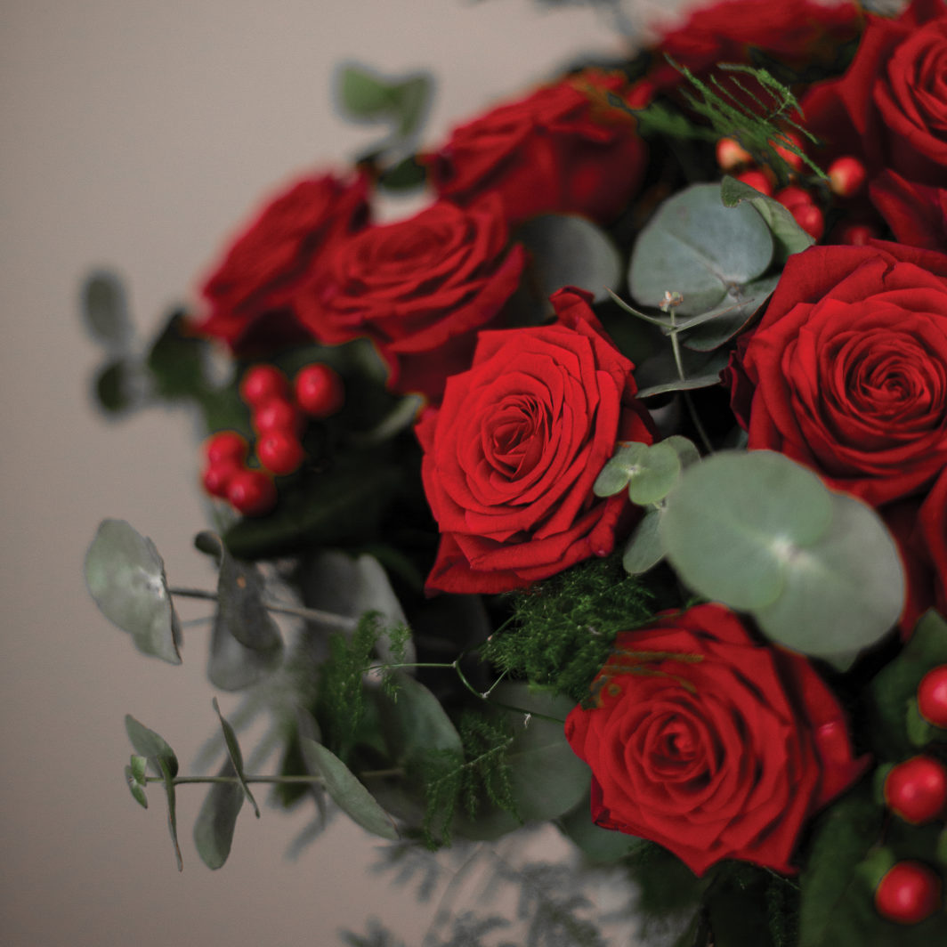 Zoom roses rouge